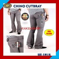 Celana Chinos Curbray Celana Cino Celana Panjang Celana Cutbray Grey B