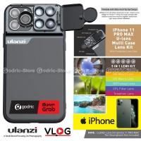 ULANZI U Lens IPHONE 11 PRO MAX Lensa CPL Macro Tele Fisheye w/ Case