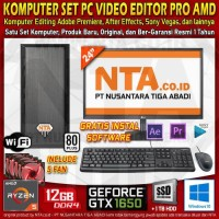 KOMPUTER SET PC VIDEO EDITOR PRO AMD