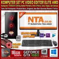 KOMPUTER SET PC VIDEO EDITOR ELITE AMD