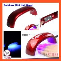 Pengering Kutek Kuku Gel Nail Art Mini Rainbow Lampu UV LED 9W YZ05 - Merah thumbnail