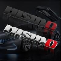Emblem LOGO NIssan NISMO JDM Stainless Steel Chrome dan Hitam Doff
