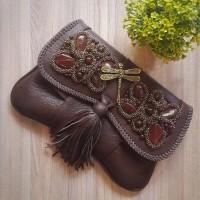 Clutch wanita Minang Coklat