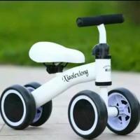 Balance bike || Sepeda anak balita roda 4 || xiaolexiong || import - Putih