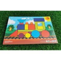 Harga mainan kayu edukatif puzzle