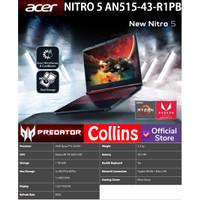 ACER PREDATOR NITRO 5 AN515-43 - RYZEN 5-3550H 8GB 1TB RX 560X 4GB W10