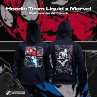 Hoodie Team Liquid x Marvel Spiderman Artwork - Hoodie Jaket Esports
