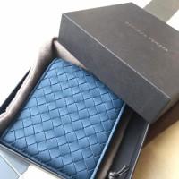 bottega venetta wallet dompet navy blue