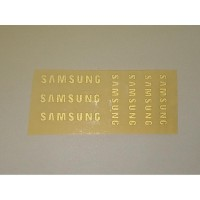 Stiker HP Decal Sticker Samsung Set 7 Pcs Warna Gold Reflektif
