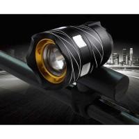 Lampu Depan Sepeda LED Zoomable USB Rechargeable