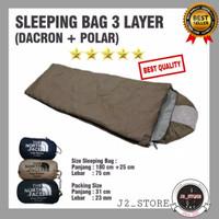 Sleeping Bag 3 Layer Ekstra Hangat Tahan Suhu Dingin