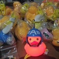 Bebek Helm Berbaling Kuning Cahaya LED