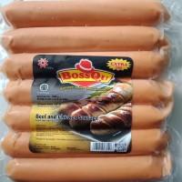 Big Sosis Jumbo BossQu Daging Sapi dan Ayam kemasan 500gr isi 7pcs