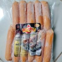 Big Sosis Jumbo Mini BossQu Daging Sapi & Ayam kemasan 500gr isi 7pcs