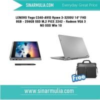 LENOVO Yoga C340-AVID Ryzen 3-3200U 8GB 256GB SSD Win 10 OHS 2019