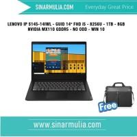 LENOVO IP S145-14IWL - GUID i5 -8256U - 1TB - 8GB -NVIDIA M X110 GDDR5