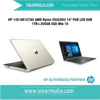 "HP 14S-DK0127AU AMD Ryzen 3-3200U 14"" FHD LED 8GB 1TB+256GB SSD Win 10"