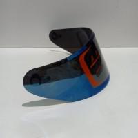 kaca helm Flat Visor iridium blue nhk Rx9. GM racepro