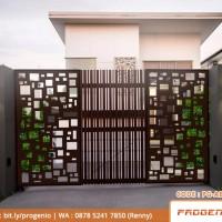 Jual Pagar Minimalis   Pagar Rumah  Pagar Motif Kotak/Abstrak Laser Cutting  - Kota Surabaya - ProgenioShop   Tokopedia