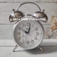 Jam Meja/ Weker Seiko QHK051S - LumiBrite & Quiet Sweep