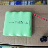 baterai mainan Nimh Nicd 4.8V 4,8v 4000mah soket hitam jst RC mobilan