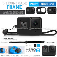 GoPro HERO 8 Black Silicone Case with Strap Casing Silikon Cover