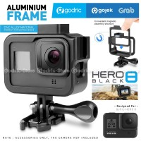 GoPro HERO 8 Black Aluminium Case Metal Casing with Extension MIC LED