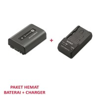 PAKET BATERAI SONY NP-FV50 + CHARGER BC-TRV
