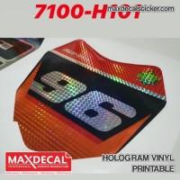 MAX DECAL HOLOGRAM VINYL PRINTABLE KOTAK SISIK 60 cm H101