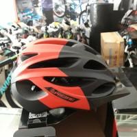 helm sepeda pacific merah bahan carboon