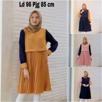 Pakaian Baju Atasan Wanita Tunik Ines Terbaru blouse dress Zahra Store