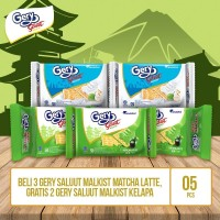 Gery Saluut Malkist Matcha Latte Free Gery Saluut Kelapa By Garudafood