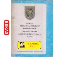 Jual Rencana Pembangunan Lima Tahun Keempat Daerah Klaten Tp 14 544 Kota Yogyakarta Toko Buku Rahma Tokopedia