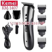 Alat Cukur Kemei KM-1407 Clipper 3 in1 Alat cukur rambut charger