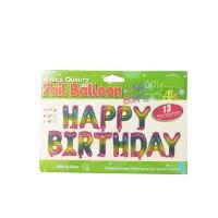 "Balon Foil Huruf 1 Set HAPPY BIRTHDAY ""17"