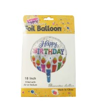 Balon Foil Bulat HAPPY BIRTHDAY