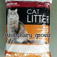 Premium Bentonite Pasir Wangi Kucing Gumpal 5.5L Cat Litter Clumpin