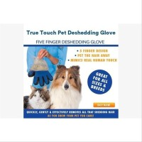 True Touch Sarung Tangan Pemijat Perapi Bulu Hewan Anjing Kucing ho