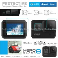 Tempered Glass 3in1 GoPro HERO 8 Black Screen Protector Anti Gores 9H