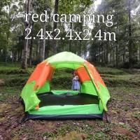 tenda automatis buka red camping 5-6orang