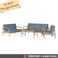 Oscar Furniture - Sofa Set Turin Mindi - Kursi Tamu Sofa Scandinavia