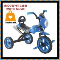 Sepeda Roda Tiga anak Motor Motoran musik Exotic ET-1258