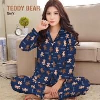 baju tidur piyama wanita lengan celana panjang varian karakter bulan