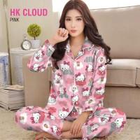 baju tidur piyama wanita lengan celana panjang karakter hello kitty