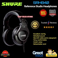 SHURE SRH840 / SRH 840 Over-Ear Headphones Original