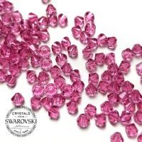 Swarovski Bicone 4mm Rose Pink - Payet Jahit