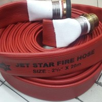 """FIRE hose rubber red 1,5"""" x 30m selang hydrant coupling machino"""