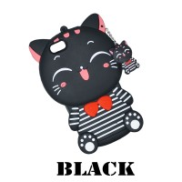 Samsung Galaxy J6 Silicone Motif Kucing Neko Soft Case