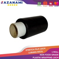 HITAM PLASTIK WRAPPING 10CM X 250M STRETCH FILM PLASTIC WRAP 10CM