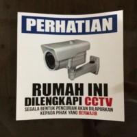 Stiker Label CCTV 20 cm x 30 cm